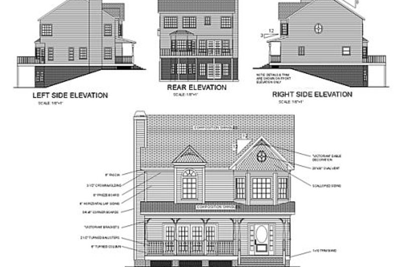 Victorian Exterior - Rear Elevation Plan #56-150 - Houseplans.com