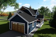 Farmhouse Style House Plan - 3 Beds 3 Baths 2025 Sq/Ft Plan #70-1419 Exterior - Rear Elevation