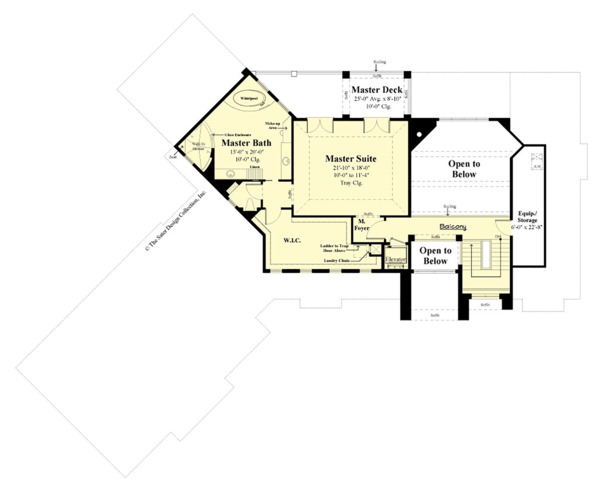 Contemporary Floor Plan - Upper Floor Plan #930-506