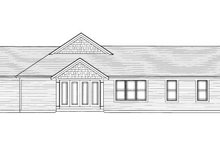Bungalow Exterior - Rear Elevation Plan #46-420
