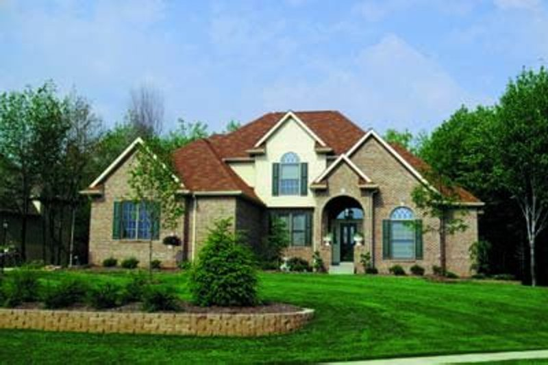 European Exterior - Front Elevation Plan #20-904 - Houseplans.com