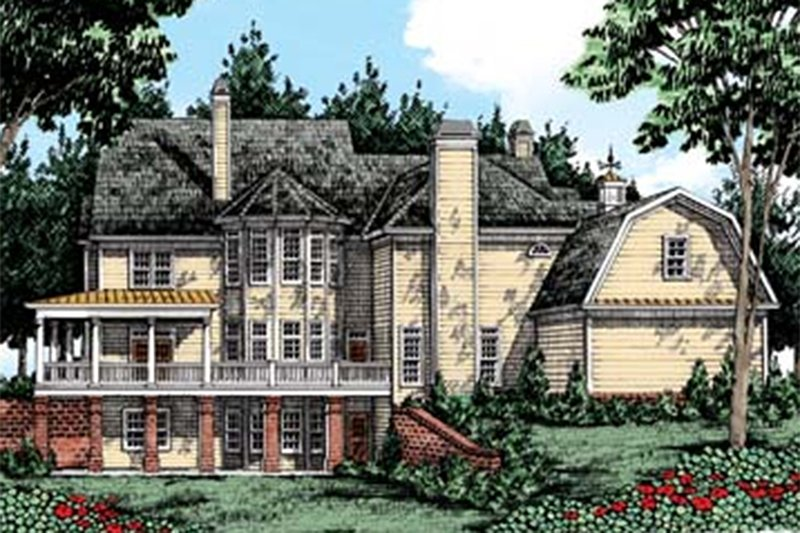 Country Exterior - Rear Elevation Plan #927-37 - Houseplans.com