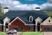 Traditional Style House Plan - 2 Beds 2 Baths 3756 Sq/Ft Plan #26-112 Exterior - Front Elevation