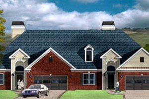Traditional Exterior - Front Elevation Plan #26-112