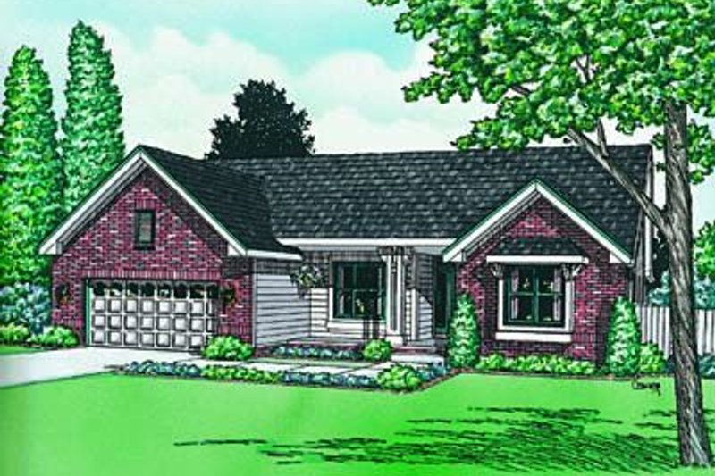 Traditional Exterior - Front Elevation Plan #20-502 - Houseplans.com