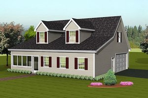 Country Exterior - Front Elevation Plan #75-202