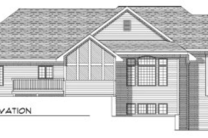 Traditional Exterior - Rear Elevation Plan #70-758 - Houseplans.com