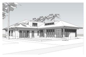 Beach Exterior - Other Elevation Plan #481-4