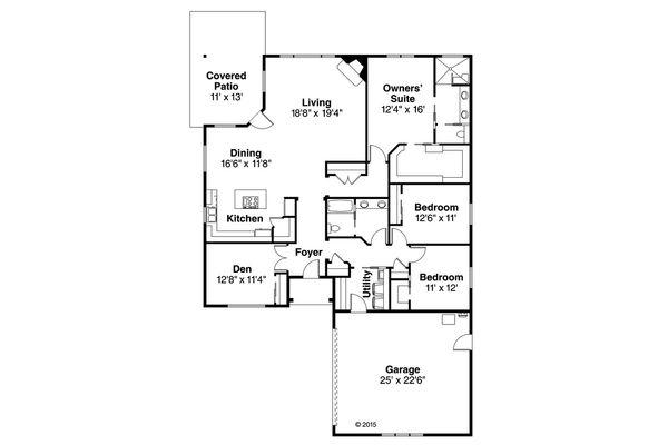 House Plan Design - Ranch Floor Plan - Main Floor Plan #124-957