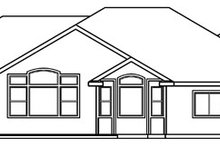 Ranch Exterior - Rear Elevation Plan #124-396