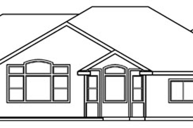 Ranch Exterior - Rear Elevation Plan #124-396 - Houseplans.com