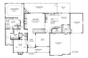 Craftsman Style House Plan - 4 Beds 4 Baths 3290 Sq/Ft Plan #437-64 Floor Plan - Main Floor Plan