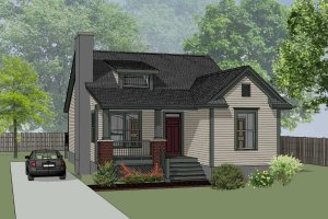 House Plan Design - Farmhouse Exterior - Front Elevation Plan #79-159