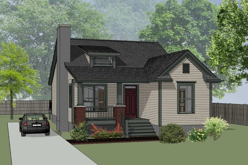 Farmhouse Style House Plan - 3 Beds 2 Baths 1214 Sq/Ft Plan #79-159 Exterior - Front Elevation