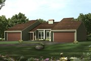 Modern Style House Plan - 3 Beds 1 Baths 1044 Sq/Ft Plan #57-286 Exterior - Front Elevation