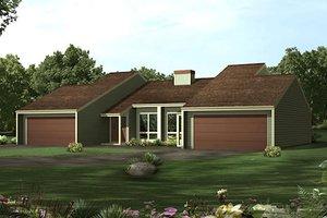 Modern Exterior - Front Elevation Plan #57-286