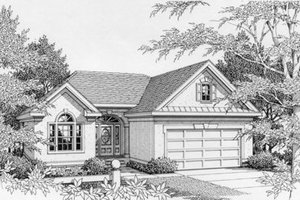 Traditional Exterior - Front Elevation Plan #112-105