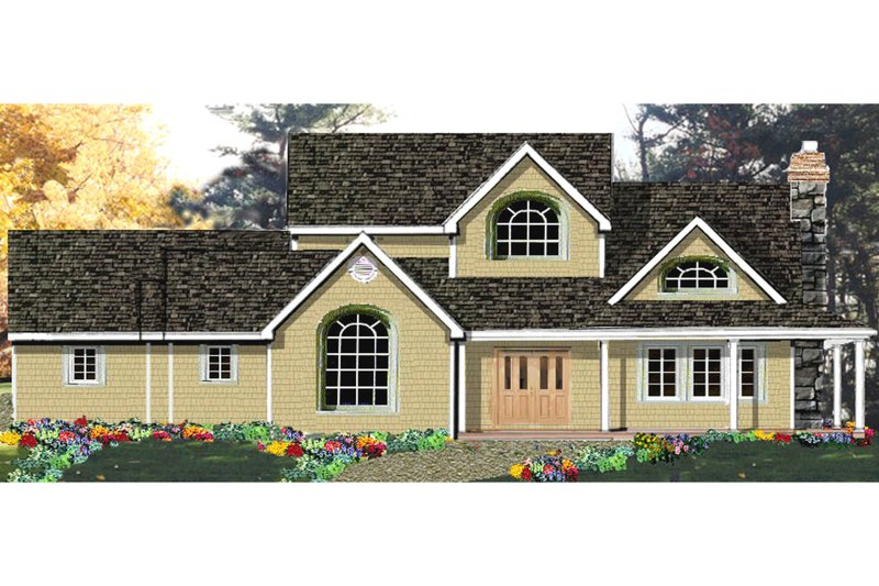 Dream House Plan - Country Exterior - Front Elevation Plan #3-255