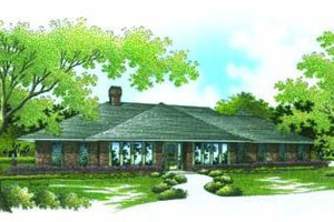 Ranch Exterior - Front Elevation Plan #45-194