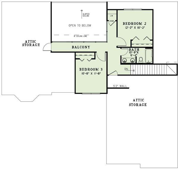 European Floor Plan - Upper Floor Plan Plan #17-2495