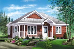 Cottage Exterior - Front Elevation Plan #25-4126