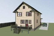Traditional Style House Plan - 3 Beds 2.5 Baths 1648 Sq/Ft Plan #79-268 Exterior - Other Elevation