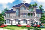 Mediterranean Style House Plan - 3 Beds 2.5 Baths 2689 Sq/Ft Plan #930-78 Exterior - Rear Elevation