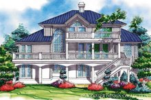 Mediterranean Exterior - Rear Elevation Plan #930-78