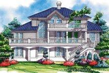House Plan Design - Mediterranean Exterior - Rear Elevation Plan #930-78