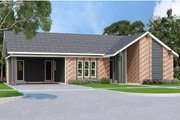 Ranch Style House Plan - 3 Beds 2 Baths 1394 Sq/Ft Plan #45-575 Exterior - Front Elevation