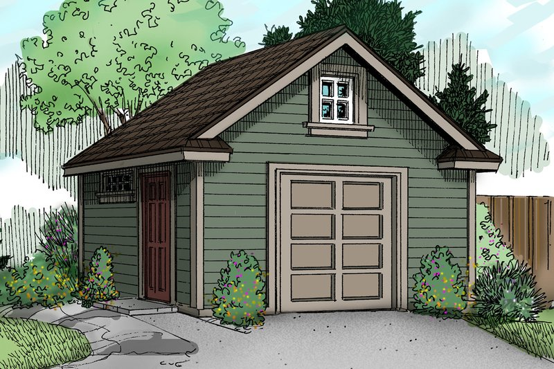 Craftsman Exterior - Front Elevation Plan #124-786