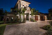 Mediterranean Style House Plan - 4 Beds 5.5 Baths 4167 Sq/Ft Plan #548-16 Exterior - Front Elevation