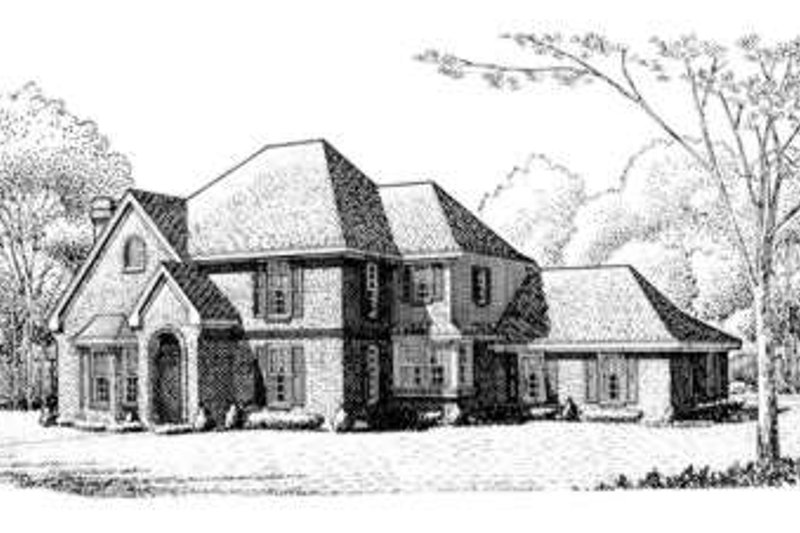 European Exterior - Front Elevation Plan #410-351