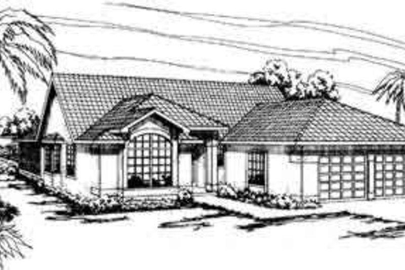 Mediterranean Exterior - Front Elevation Plan #124-250 - Houseplans.com