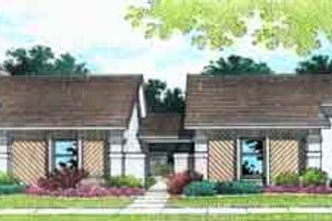 Dream House Plan - Modern Exterior - Front Elevation Plan #45-223