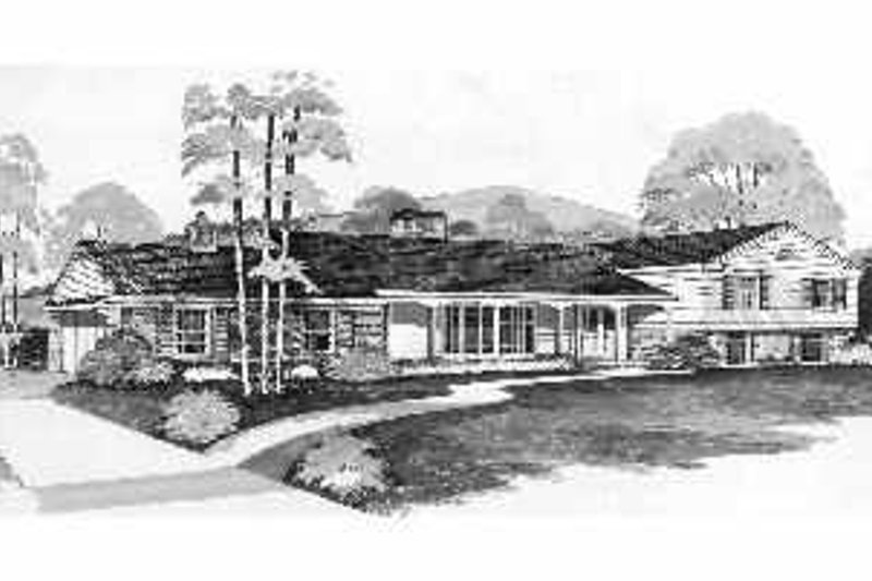 Ranch Exterior - Front Elevation Plan #72-345