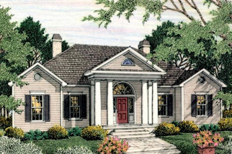 Dream House Plan - Colonial Exterior - Front Elevation Plan #406-130