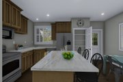 Traditional Style House Plan - 4 Beds 3 Baths 2138 Sq/Ft Plan #1060-54 Interior - Kitchen