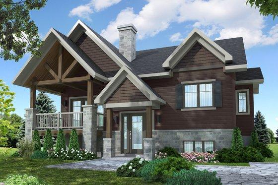 Architectural House Design - Craftsman Exterior - Front Elevation Plan #23-2654