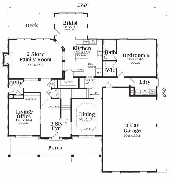 Dream House Plan - European Floor Plan - Main Floor Plan #419-136