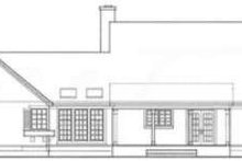 Architectural House Design - Country Exterior - Rear Elevation Plan #406-151