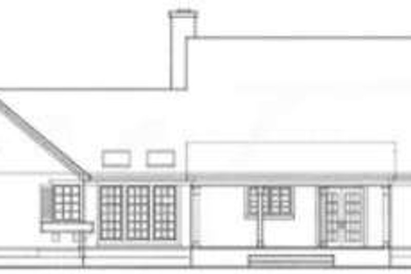 Country Exterior - Rear Elevation Plan #406-151 - Houseplans.com