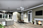 Bungalow Style House Plan - 2 Beds 2 Baths 2160 Sq/Ft Plan #44-238 Interior - Family Room