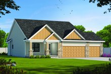House Plan Design - Farmhouse Exterior - Front Elevation Plan #20-2446