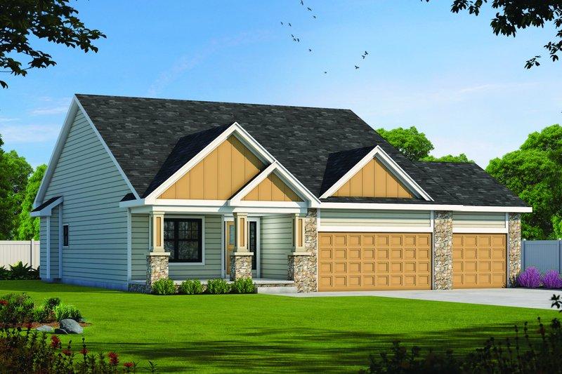 Architectural House Design - Farmhouse Exterior - Front Elevation Plan #20-2446