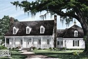 Southern Style House Plan - 4 Beds 3 Baths 3137 Sq/Ft Plan #137-224 Exterior - Front Elevation
