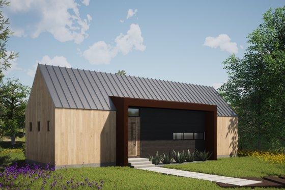 Modern Exterior - Front Elevation Plan #933-5
