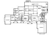 Mediterranean Style House Plan - 4 Beds 4.5 Baths 4185 Sq/Ft Plan #935-4 Floor Plan - Main Floor Plan