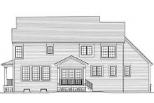 Country Exterior - Rear Elevation Plan #46-488