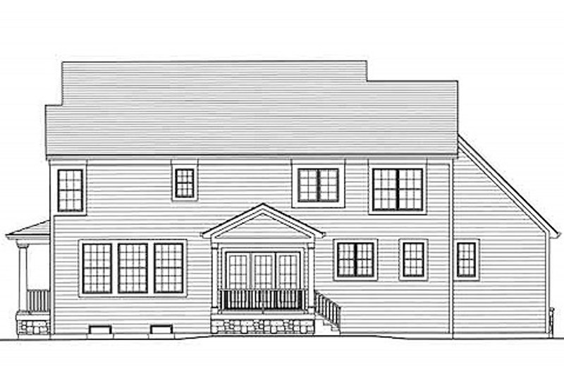 Country Exterior - Rear Elevation Plan #46-488 - Houseplans.com